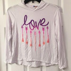 LOVE hoodie shirt size 10-12
